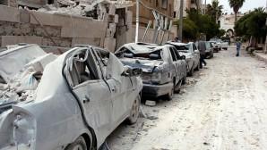Suriye ordusu Hristiyan köyünü bombaladı
