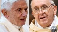İki papa yemekte buluştu