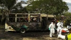 Kolombiya'da Pazar ayininden dönen 32 çocuk otobüsün içinde yanarak can verdi