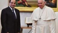Mısır Cumhurbaşkanı Sisi, Vatikan'da Papa ile görüştü