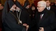 Filistin Devlet Başkanı Abbas Kudüs Ermeni Kilisesi'ndeki ayine katıldı
