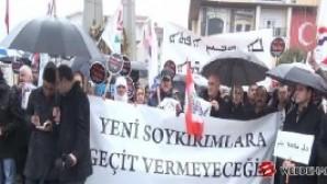 Süryaniler'den Bakırköy Özgürlük Meydanı'nda IŞiD protestosu