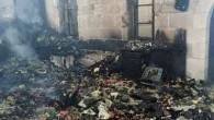 Kilise yakıldı