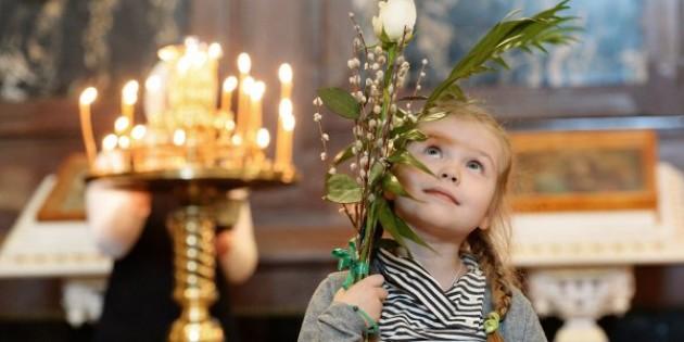 Rus Ortodoks Kilisesi Palmiye Pazarı'nı Kutladı