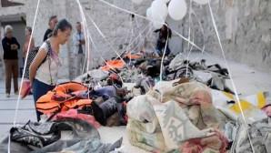 Kilise Kalıntıları Arasında Mülteci Sergisi