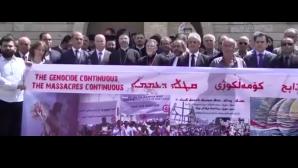 Daeş'in öldürdüğü Hristiyanlara anma töreni yapıldı