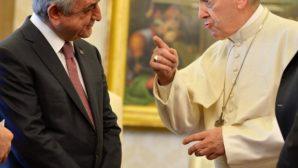 Papa Françesko ve Sarkisyan Geçtiğimiz Günlerde Vatikan'da Buluştu