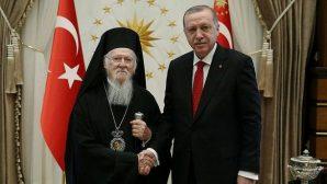 Cumhurbaşkanı Erdoğan, Ekümenik Patrik I. Bartholomeos'u Ağırladı