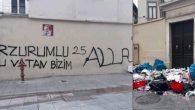 Kadıköy'de Kilise Duvarına Irkçı Yazı
