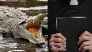 Timsah, Vaftiz Törenini Yöneten Pastörü Öldürdü