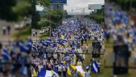 Nikaragua'da Binlerce Vatandaş Katolik Kilisesi'ne Destek Mitingi Düzenledi