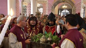 Celebration of Feast of the Exaltation of the Holy Cross celebrated in the Armenian Apostolic Churches in Istanbul