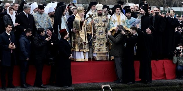 """Ukrayna Cumhurbaşkanı ve Patrik Epifanyus'un Katılımıyla """"Epifani"""" Bayramı İstanbul'da Kutlandı"""