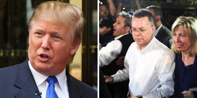 """Trump: """"Türkiye'ye Pastör Brunson'u Bıraksanız İyi Olur"""" Dedim"""