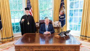 ABD Başepiskoposu Lambriniadis, Beyaz Saray'da ABD Başkanı Trump İle Buluştu