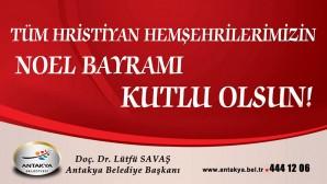 Antakya Belediyesi'nden Noel Kutlaması