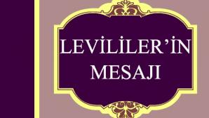Levililer'in Mesajı Kitabı çıktı