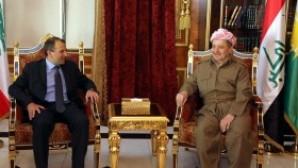Lübnan Dışişleri Bakanı Basil, IKBY Başkanı Barzani ile Iraklı Hristiyanlar hakkında görüştü