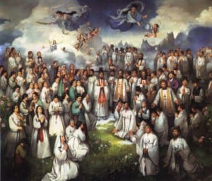 Painting depicts Korean martyrs canonized in 1984