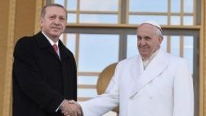 Papa Cumhurbaşkanı Erdoğan görüşmesi başladı