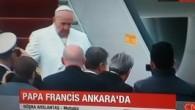 Papa Francis'in uçağı Ankara'ya indi