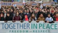"""Brüksel'de """"Birlikte Barış"""" yürüyüşü"""