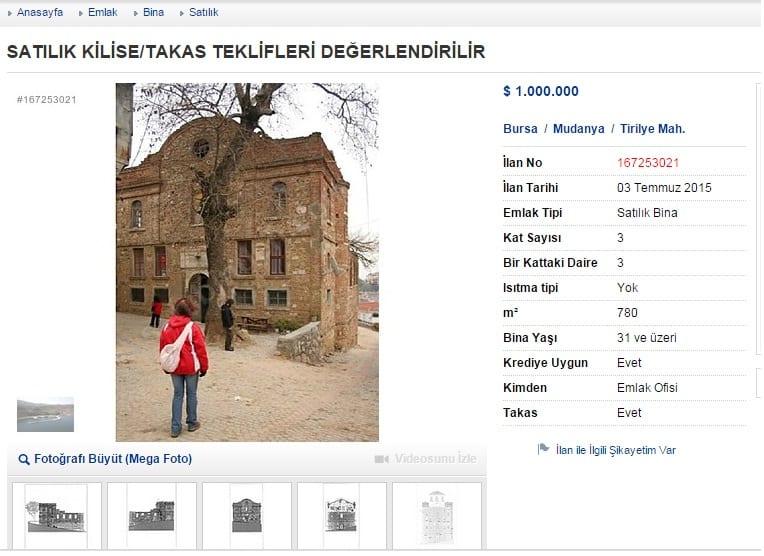satılık kilise
