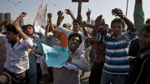 Bangladeşli Hristiyanlardan polisin tutumuna protesto