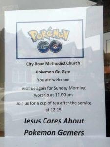 pokemon go çılgınlığı kiliselerde