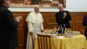 Papa Françesko, Aziz Ignatius Bayramını için Cizvit Kardeşlerle Öğle Yemeğinde Bir Araya Geldi