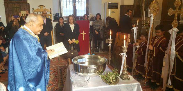 Mersin'de İsa Mesih'in Vaftizi Bayramı Ayini Yapıldı