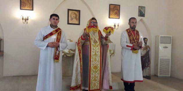 İskenderun Süryani Katolik Kilisesinde Noel ve Vaftiz Bayramı Ayini