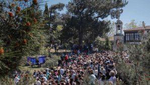 Thousands of people flocked to Aya Yorgi Church in Büyükada