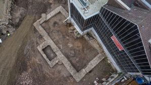During the construction work at the church, a library of 2nd year BC was found in Germany