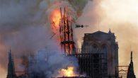 Paris Notre Dame Katedrali'nde Yangın