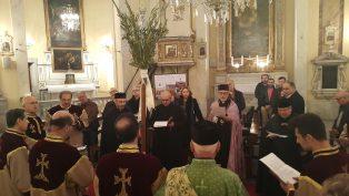 İstanbul'daki Ermeni Katolik Kiliseleri'nde Palmiye Pazarı Ayini Yapıldı