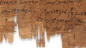 1700 Yıllık Hristiyanlara Ait Mektup Bulundu