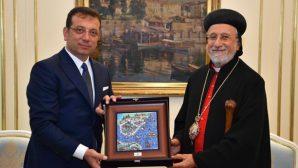 Syriac Orthodox Community's Metropolitan Yusuf Çetin Visited The Mayor Of Istanbul Ekrem İmamoğlu
