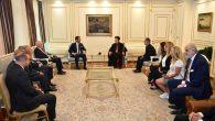 Süryani Kadim Cemaati Lideri Metropolit Mor Filüksinos Yusuf Çetin, İBB Başkanı Ekrem İmamoğlu'nu Ziyaret Etti