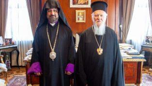 Ekümenik Patrik Bartholomeos ve Değabah Episkopos Sahak Maşalyan Bir Araya Geldi
