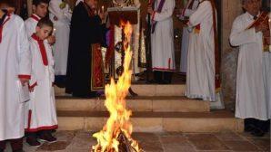 Mardin Kırklar Kilisesi'nde Ateş Yakarak Doğuş Bayramı Kutlandı