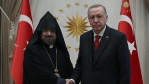 Patriarch Sahak II Maşalyan Visited President Erdoğan