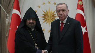 Patrik Sahak Maşalyan, Cumhurbaşkanı Erdoğan'ı Ziyaret Etti