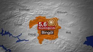 Son Dakika: Bingöl'de 5,6 Büyüklüğünde Yeni Deprem