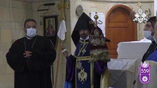 """Kadasetli Patrik Sahak II, """"Hıraşapar"""" Duaları ile Vakıflıköy Surp Advadzadzin Kilisesi'ne Girdi"""