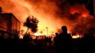 Yunanistan'ın En Büyük Mülteci Kampında Yangın