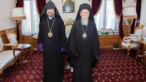 Patrik Sahak II, Ekümenik Patrik Bartholomeos'u Ziyaret Etti