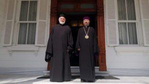 ABD Rum Ortodoks Kilisesi Başepiskoposu Prof. Dr. Elphidoporos'dan, Türkiye Ermenileri Patriği Kadasetli Sahak II'ye Kutlama ve Nezaket Ziyareti