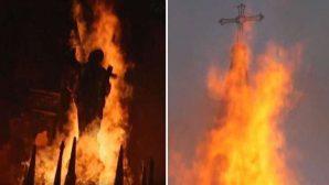 Şili'de Katolik Kiliseler Kundaklandı