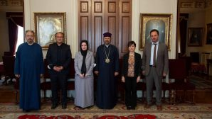 Courtesy Visit to Patriarch Sahak II from the İstanbul Metropolitan Municipality Bureau of Beliefs